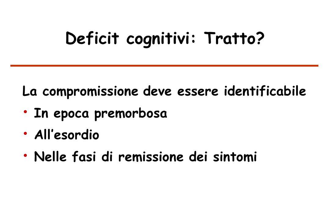 Deficit cognitivi: Tratto