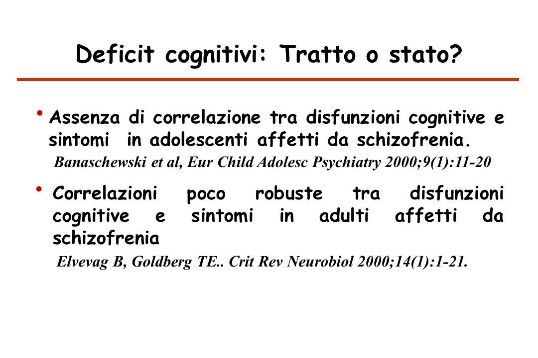 Deficit cognitivi: Tratto o stato