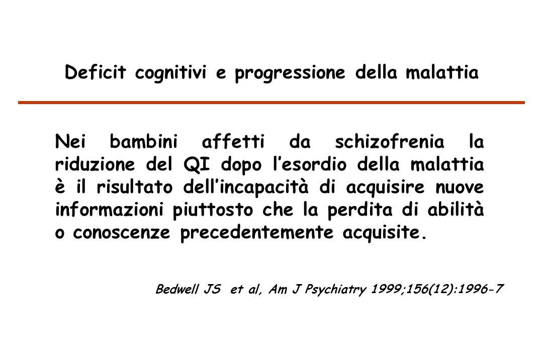 Deficit cognitivi e progressione della malattia
