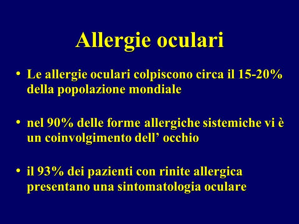Allergie oculariLe allergie oculari colpiscono circa il 15-20% della popolazione mondiale.