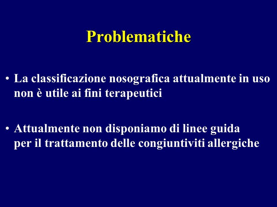 ProblematicheLa classificazione nosografica attualmente in uso non è utile ai fini terapeutici.