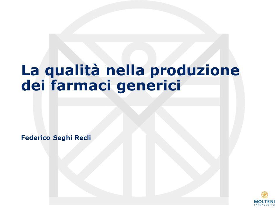 La qualità nella produzione dei farmaci generici