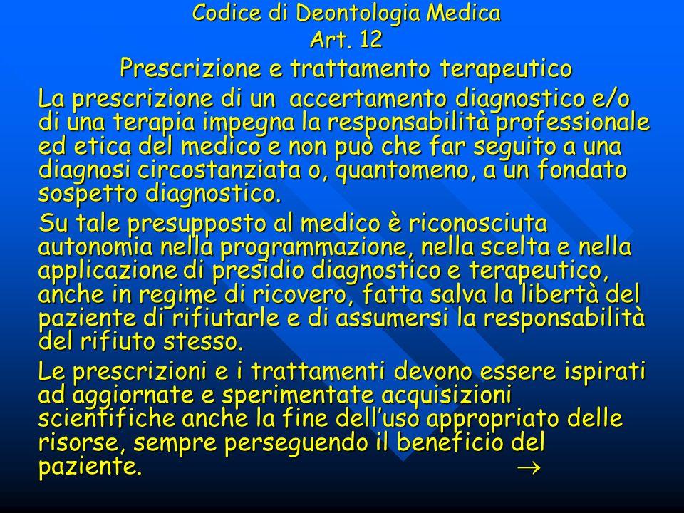 Prescrizione e trattamento terapeutico
