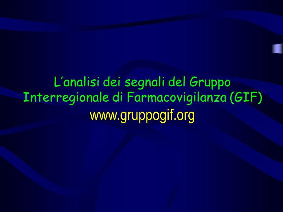L'analisi dei segnali del Gruppo Interregionale di Farmacovigilanza (GIF)