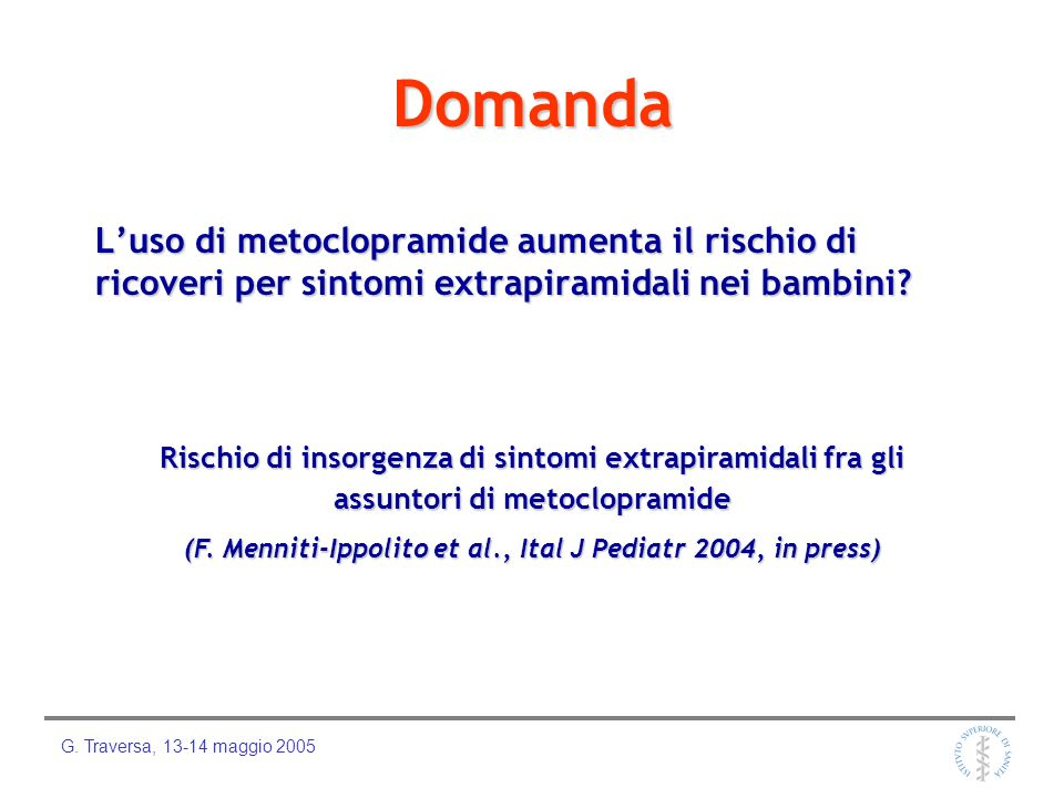 (F. Menniti-Ippolito et al., Ital J Pediatr 2004, in press)