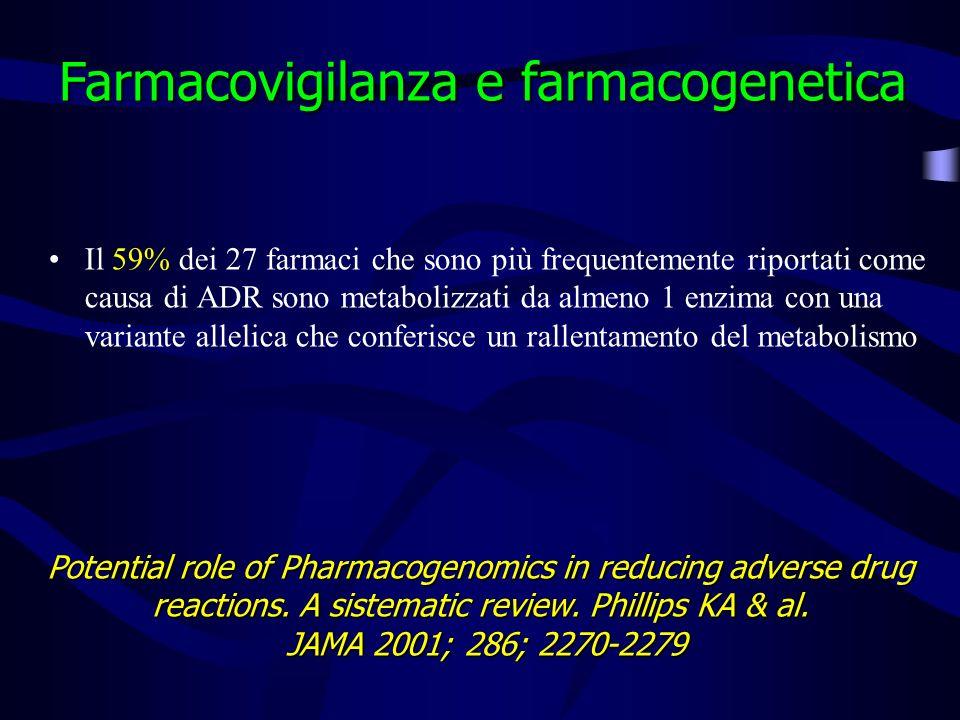 Farmacovigilanza e farmacogenetica