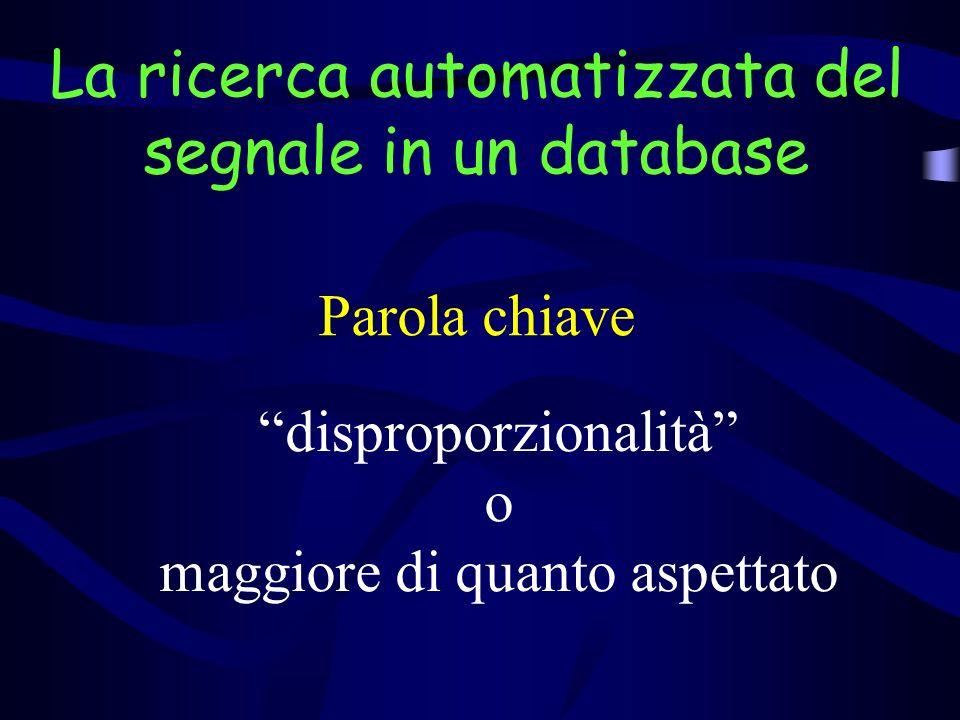La ricerca automatizzata del segnale in un database