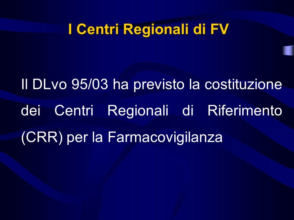 I Centri Regionali di FV