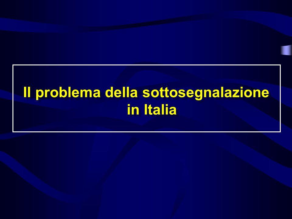 Il problema della sottosegnalazione in Italia