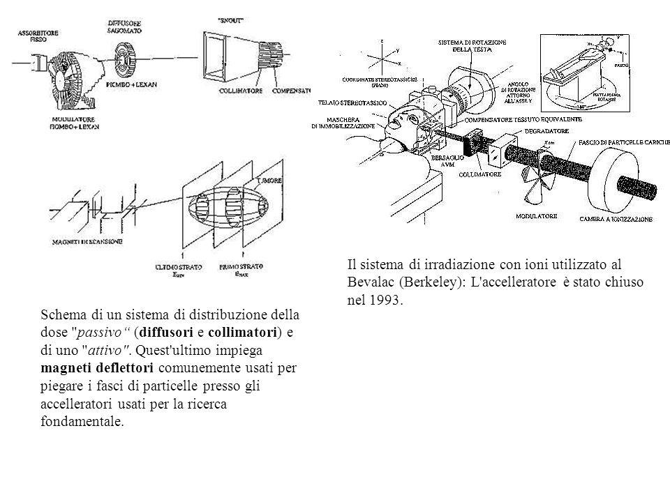 Il sistema di irradiazione con ioni utilizzato al Bevalac (Berkeley): L accelleratore è stato chiuso nel 1993.