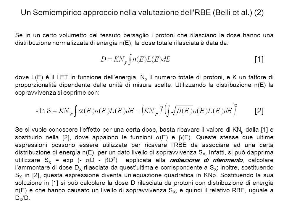 Un Semiempirico approccio nella valutazione dell RBE (Belli et al