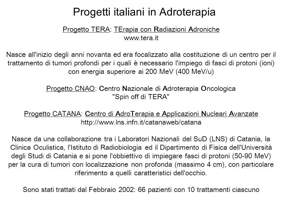 Progetti italiani in Adroterapia