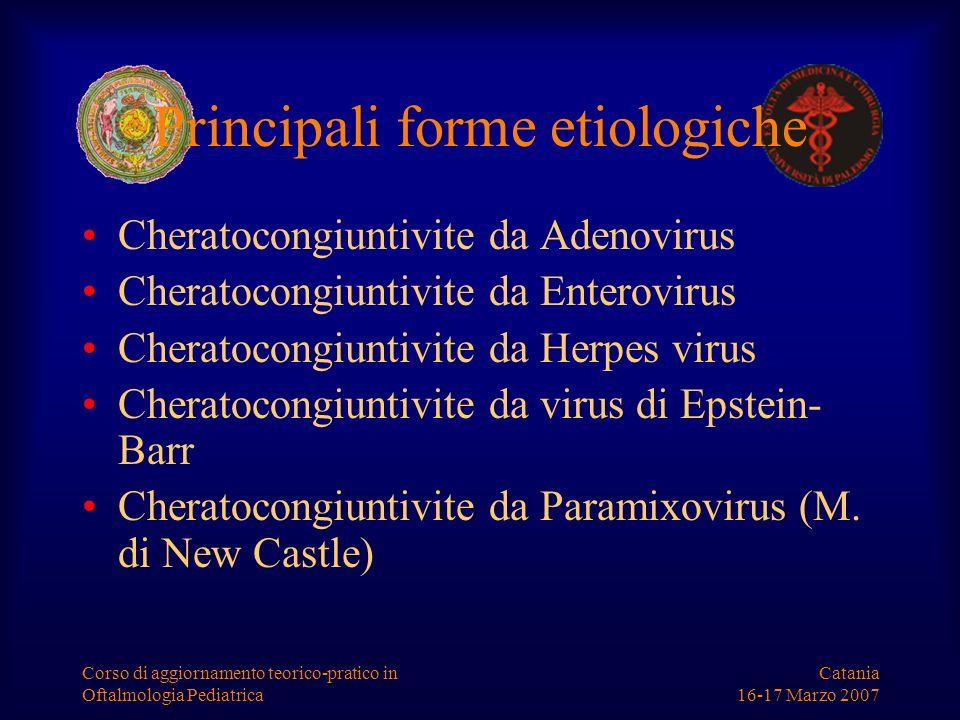 Principali forme etiologiche
