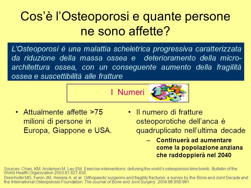 Cos'è l'Osteoporosi e quante persone ne sono affette