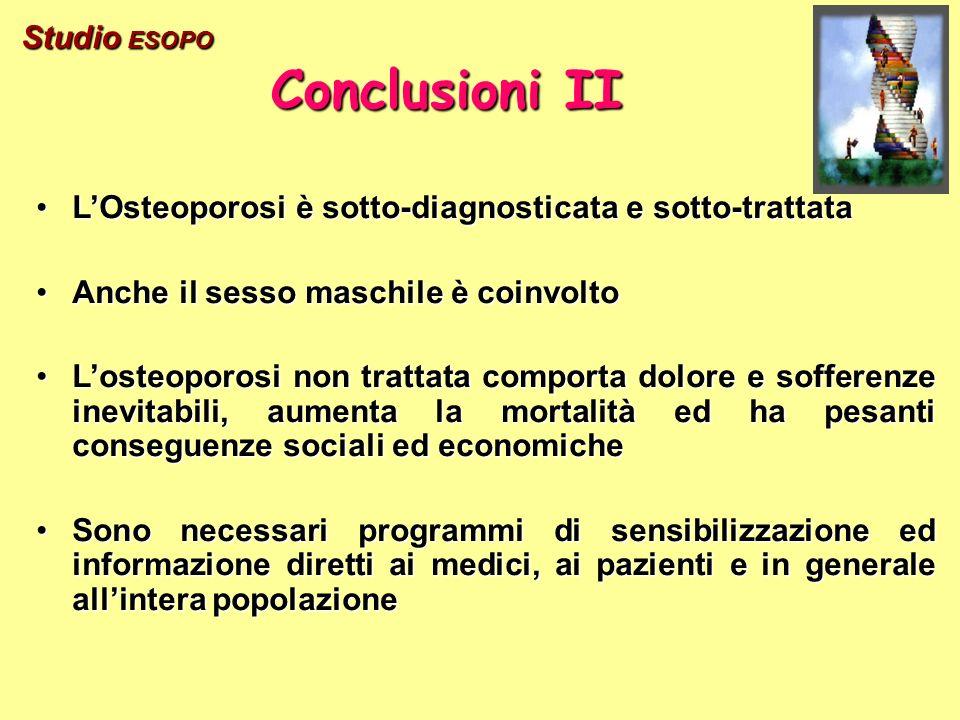 Conclusioni II Studio ESOPO