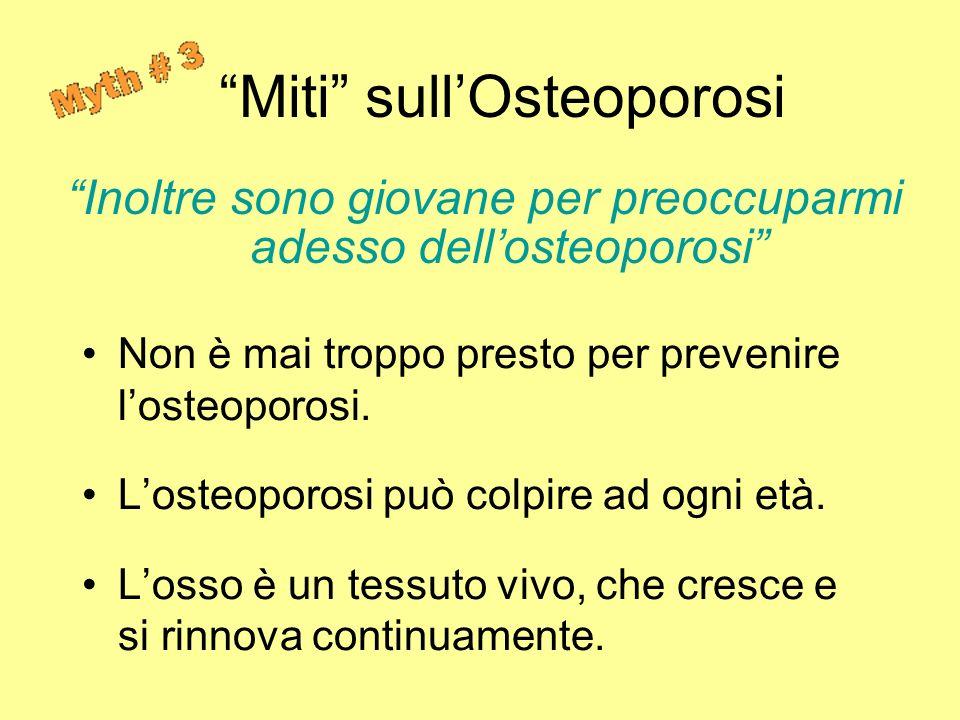 Miti sull'Osteoporosi