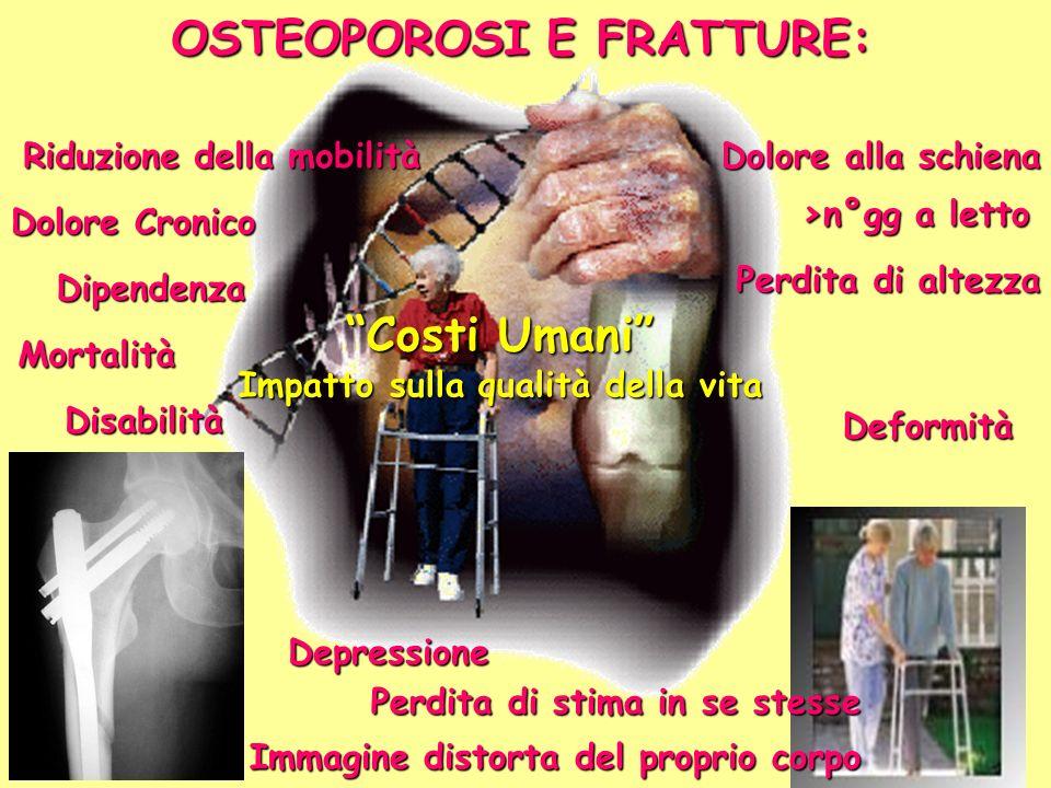 OSTEOPOROSI E FRATTURE: Impatto sulla qualità della vita