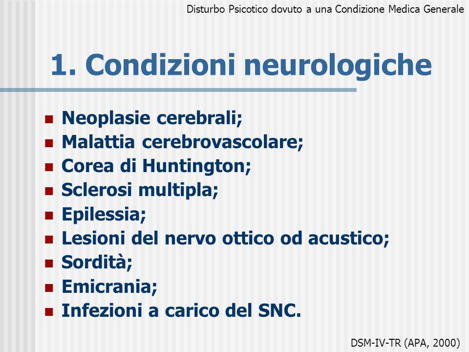 1. Condizioni neurologiche