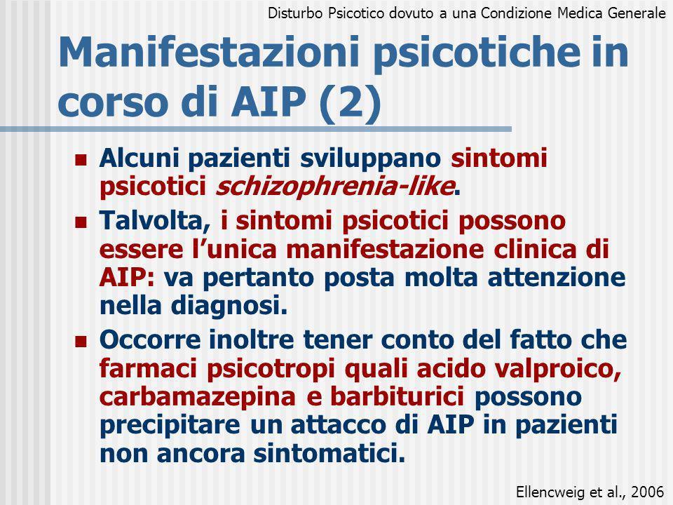 Manifestazioni psicotiche in corso di AIP (2)