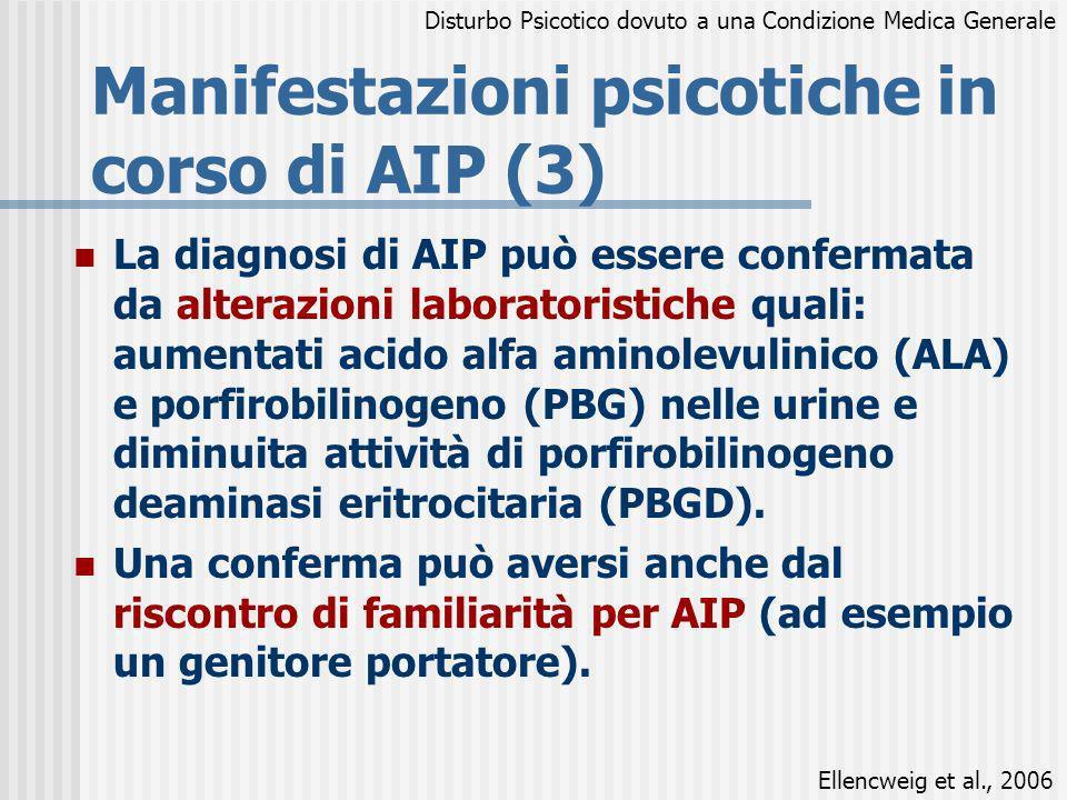 Manifestazioni psicotiche in corso di AIP (3)