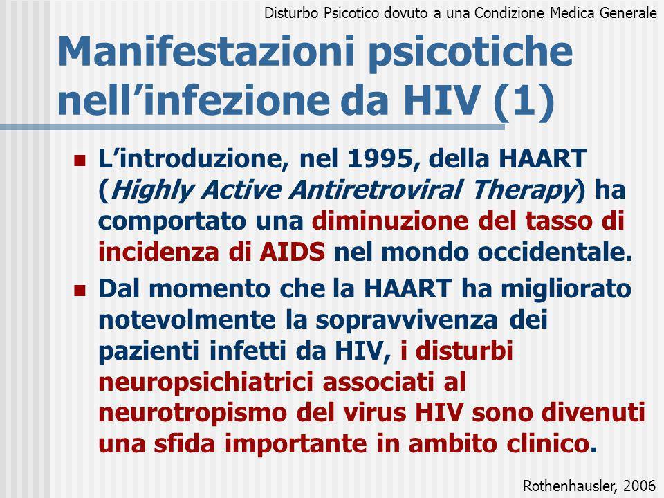 Manifestazioni psicotiche nell'infezione da HIV (1)