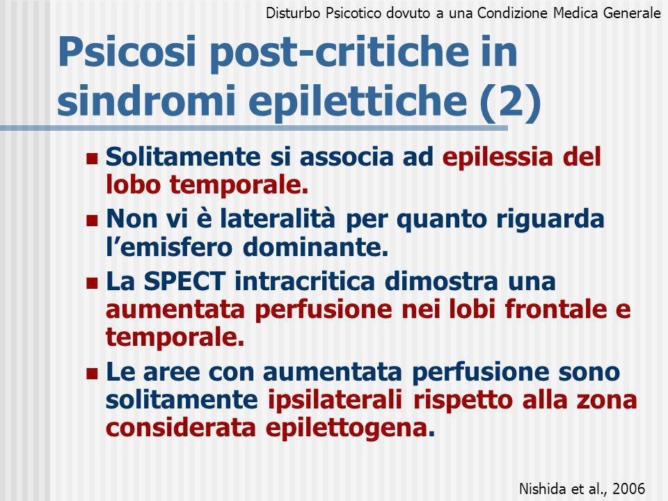 Psicosi post-critiche in sindromi epilettiche (2)