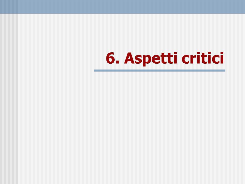 6. Aspetti critici