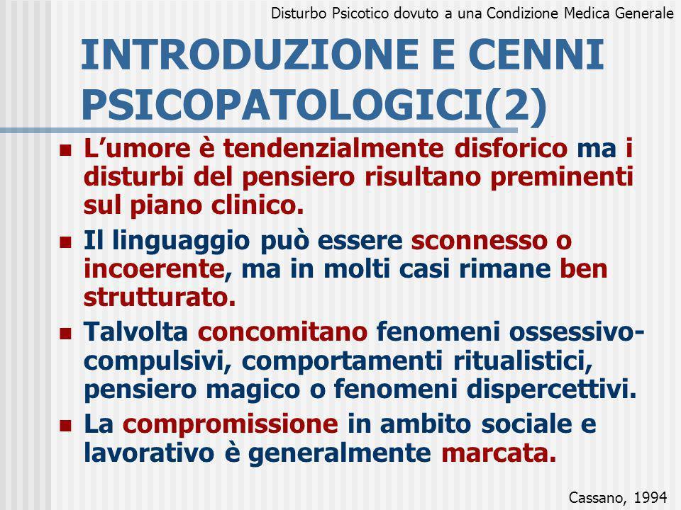 INTRODUZIONE E CENNI PSICOPATOLOGICI(2)