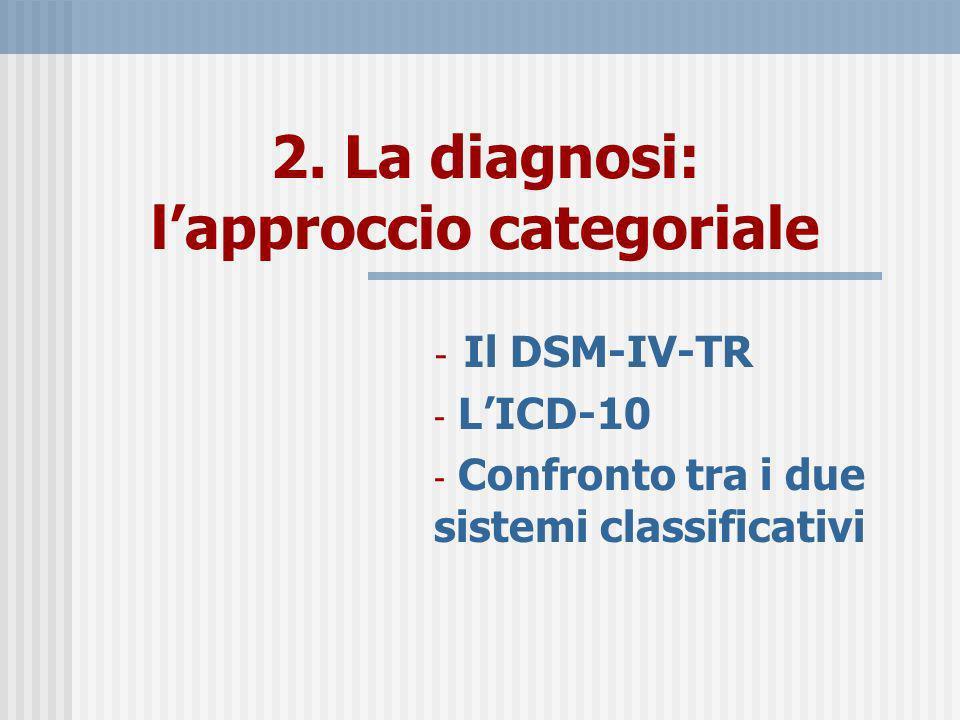 2. La diagnosi: l'approccio categoriale