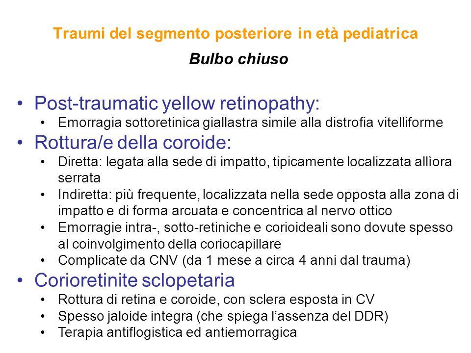 Traumi del segmento posteriore in età pediatrica Bulbo chiuso
