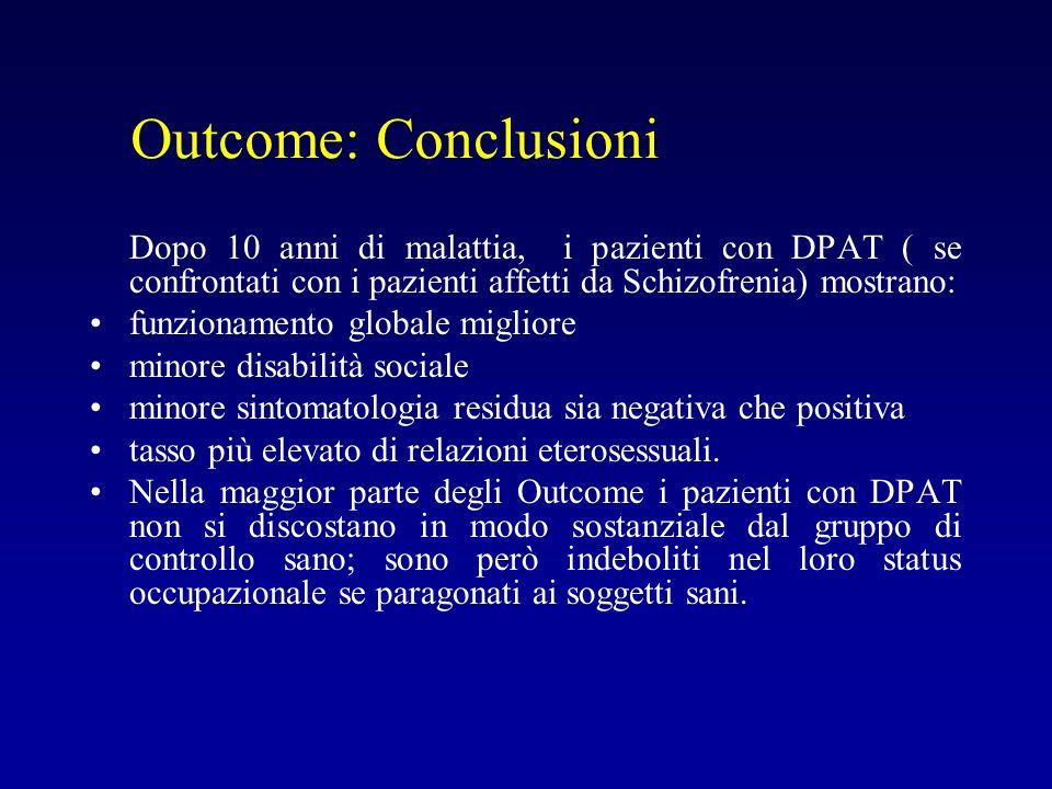 Outcome: Conclusioni funzionamento globale migliore