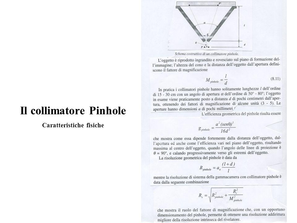 Il collimatore Pinhole Caratteristiche fisiche