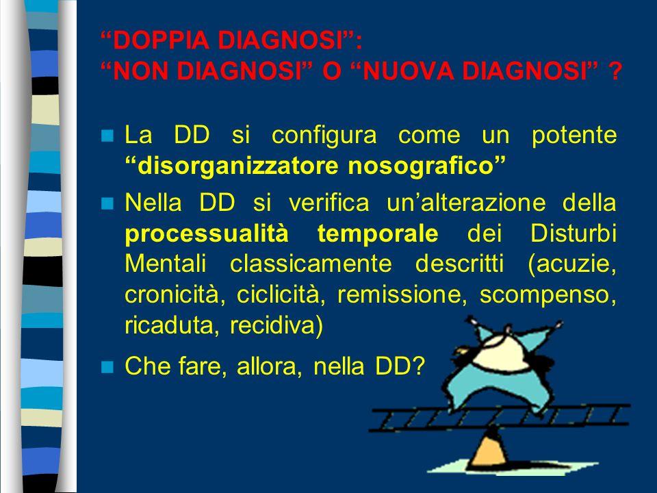 DOPPIA DIAGNOSI : NON DIAGNOSI O NUOVA DIAGNOSI