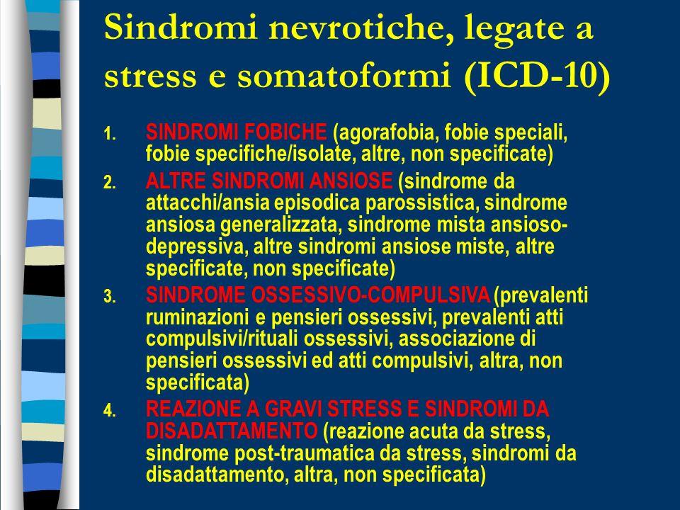 Sindromi nevrotiche, legate a stress e somatoformi (ICD-10)