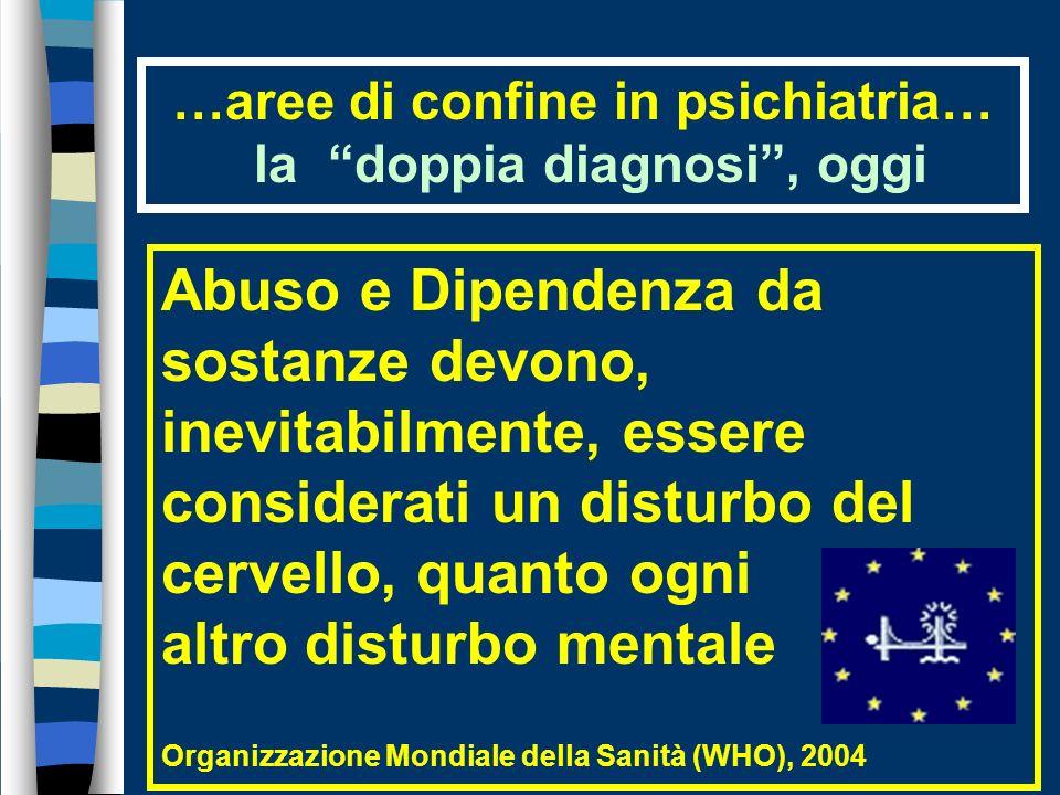 …aree di confine in psichiatria… la doppia diagnosi , oggi
