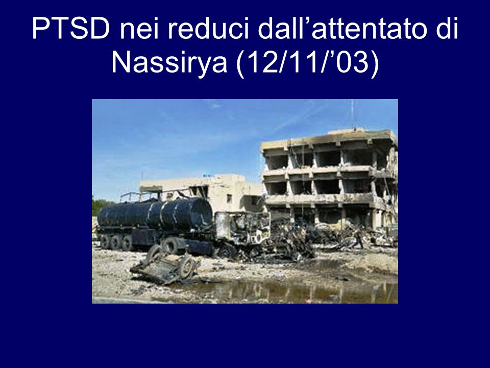 PTSD nei reduci dall'attentato di Nassirya (12/11/'03)