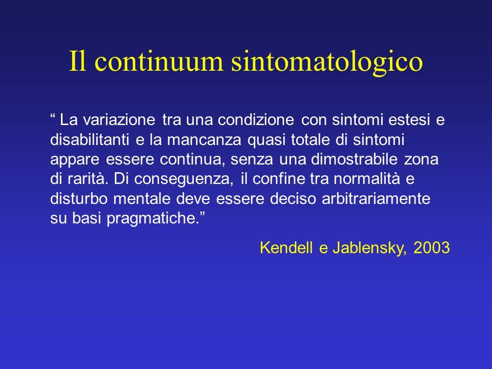Il continuum sintomatologico