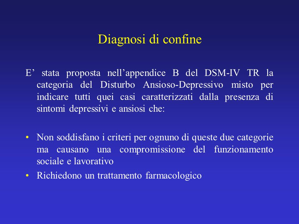 Diagnosi di confine