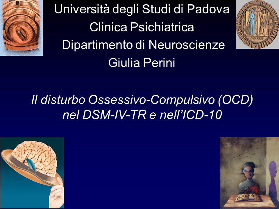Università degli Studi di Padova Clinica Psichiatrica