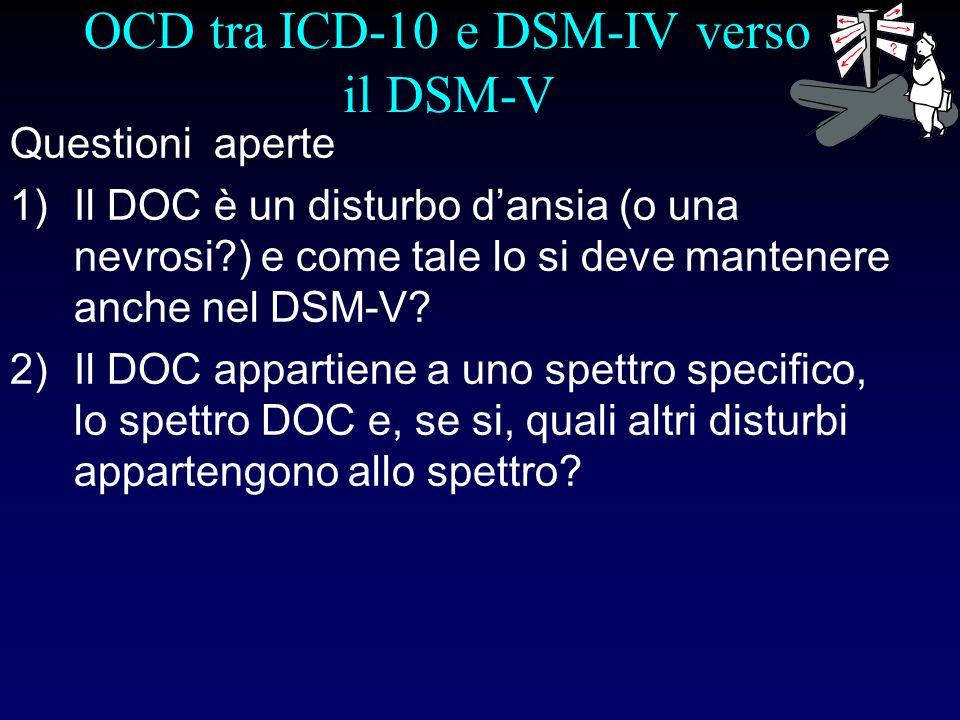OCD tra ICD-10 e DSM-IV verso il DSM-V