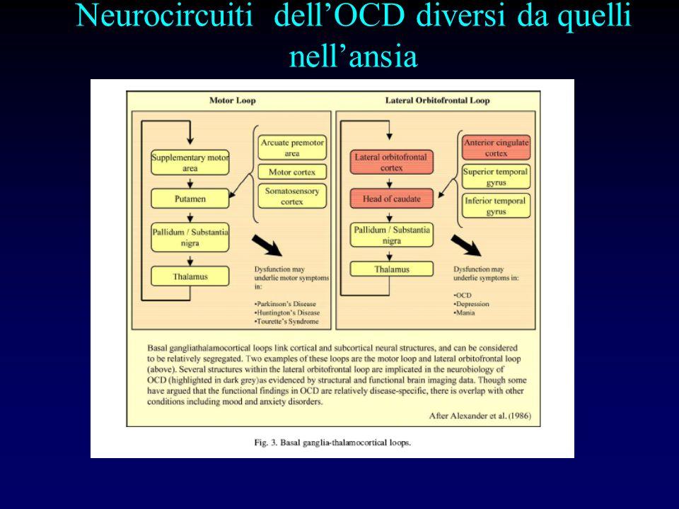 Neurocircuiti dell'OCD diversi da quelli nell'ansia