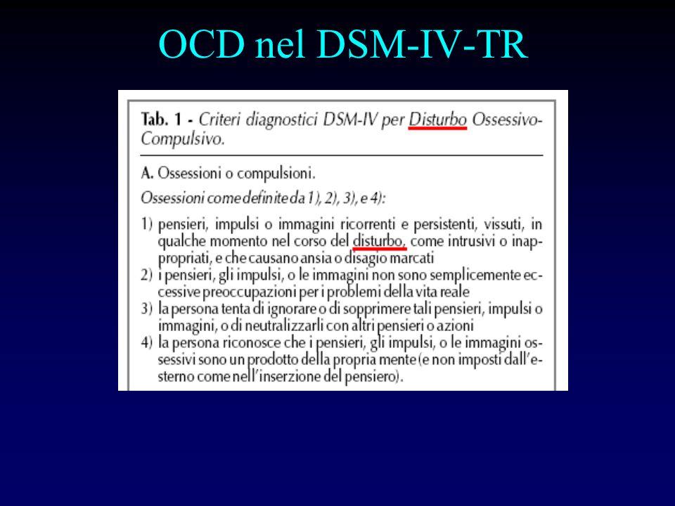 OCD nel DSM-IV-TR