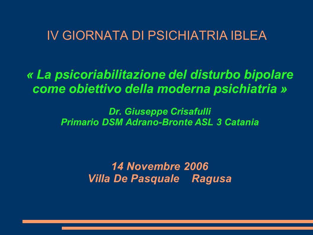 IV GIORNATA DI PSICHIATRIA IBLEA