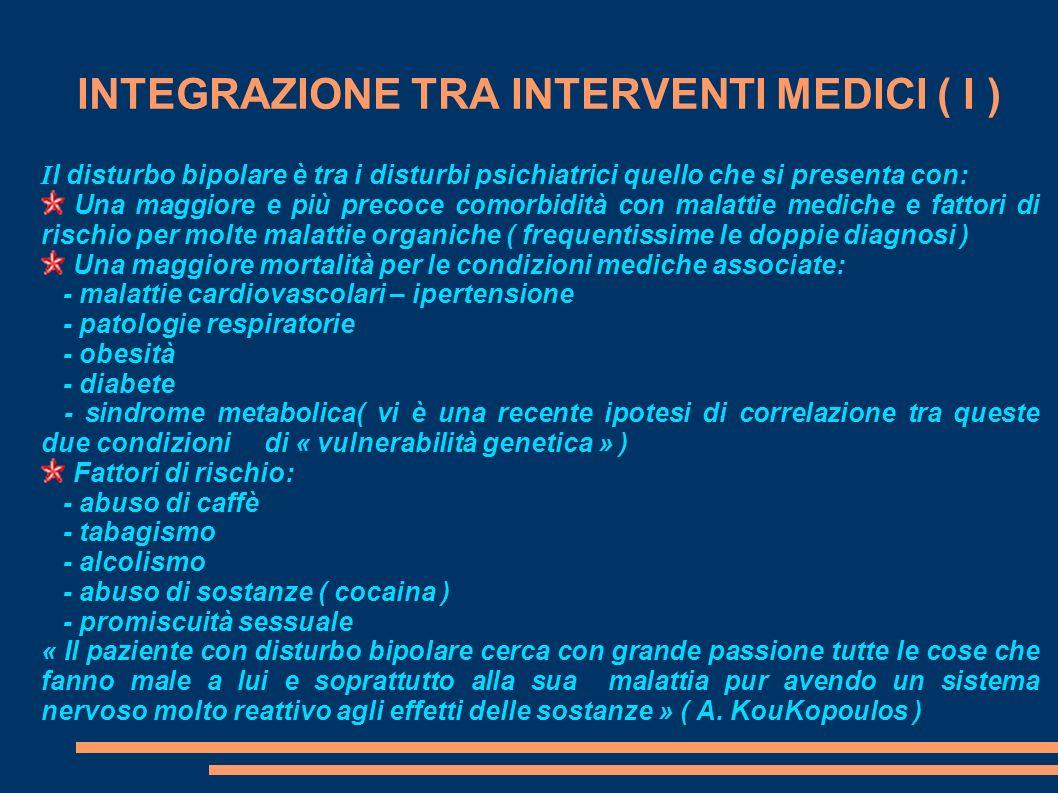 INTEGRAZIONE TRA INTERVENTI MEDICI ( I )