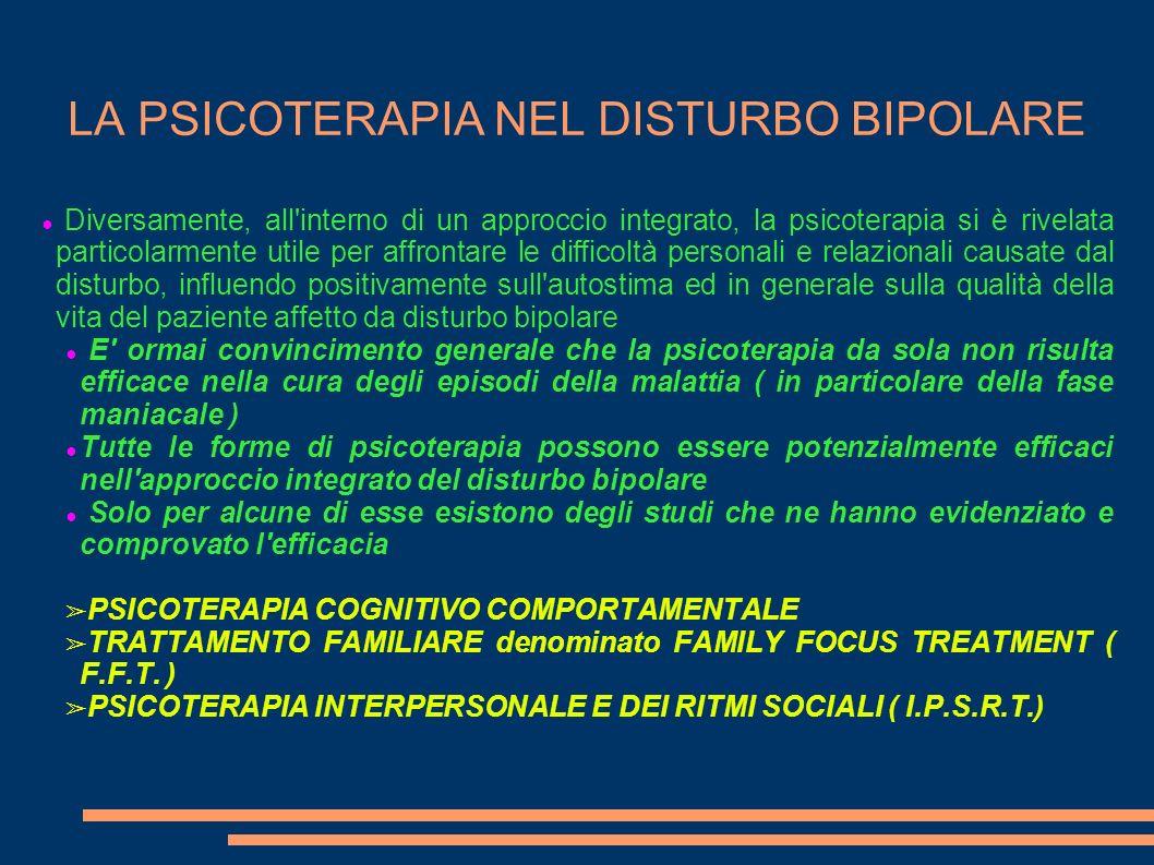 LA PSICOTERAPIA NEL DISTURBO BIPOLARE