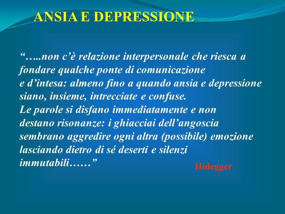 ANSIA E DEPRESSIONE …..non c'è relazione interpersonale che riesca a
