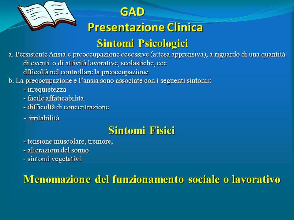 GAD Presentazione Clinica