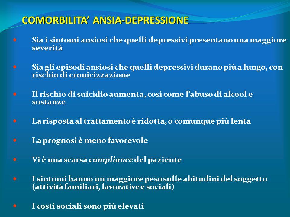 COMORBILITA' ANSIA-DEPRESSIONE