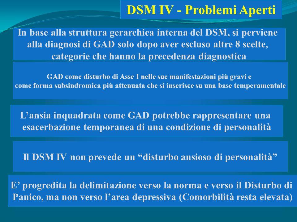 DSM IV - Problemi Aperti