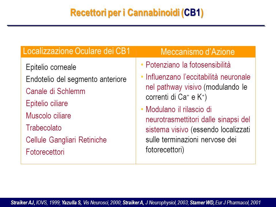 Recettori per i Cannabinoidi (CB1)